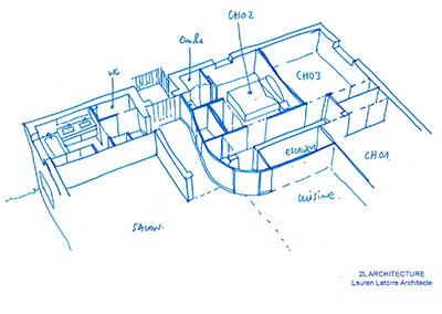 Aménagement intérieur: salle de bains – chambre
