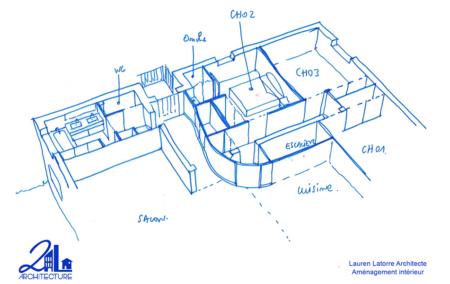 Aménagement intérieur: salle de bain – chambre