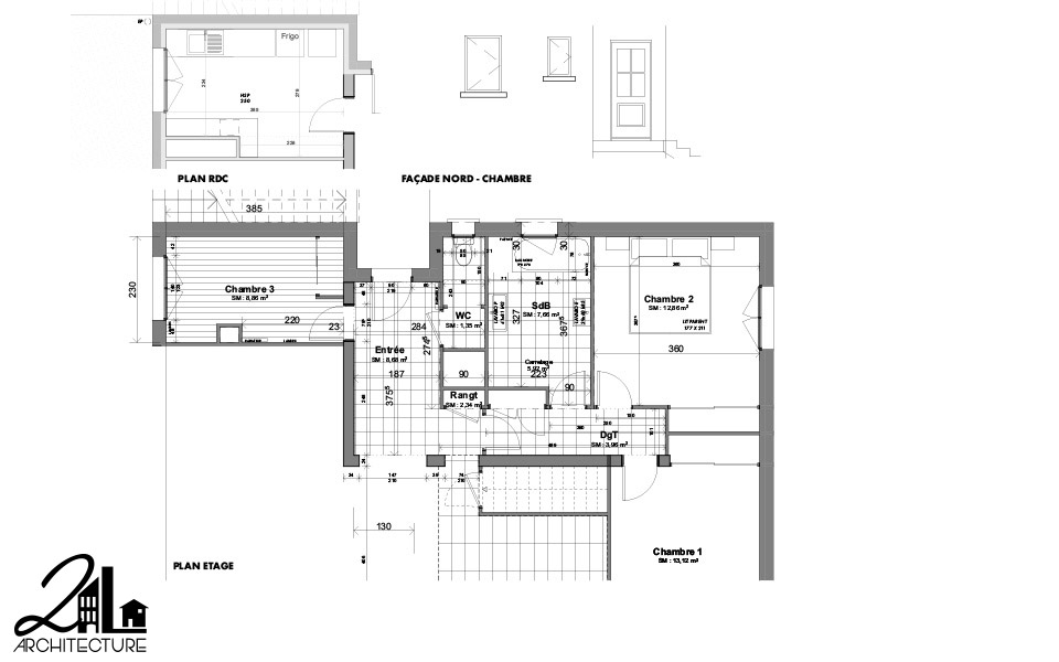 Aménagement Intérieur par 2L Architecture - plan relevé