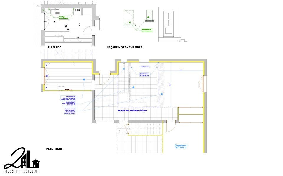 Aménagement Intérieur par 2L Architecture - après démolition