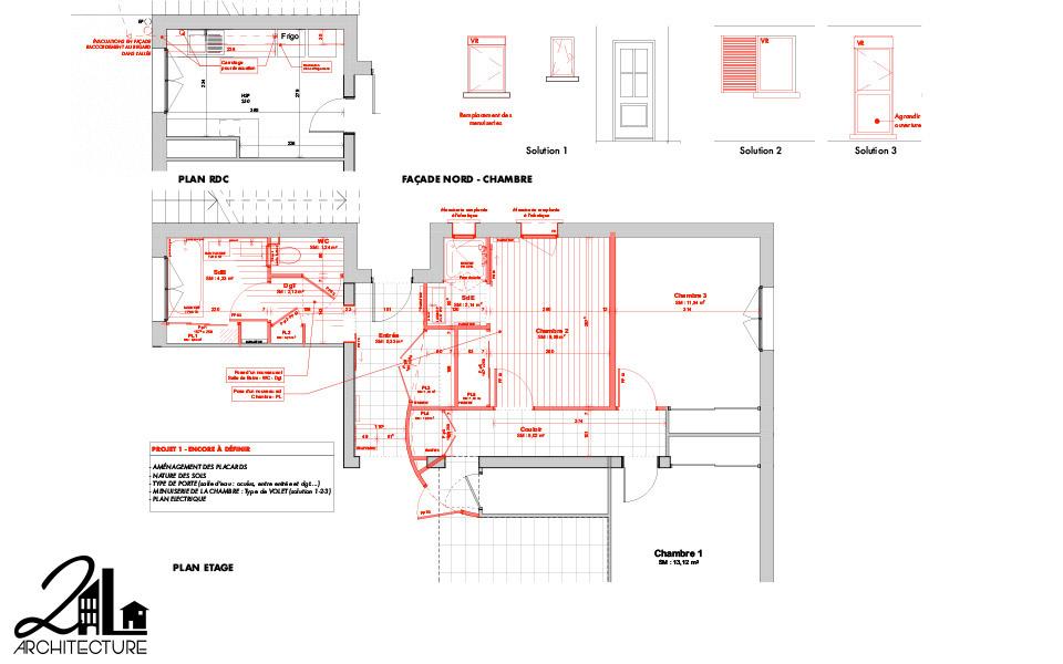 Aménagement Intérieur par 2L Architecture - plan des travaux