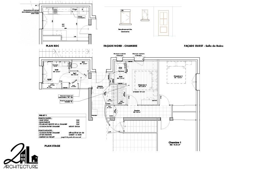 Aménagement Intérieur par 2L Architecture - plan du projet