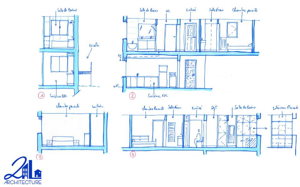 Aménagement Intérieur par 2L Architecture - élévation