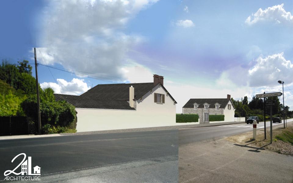 Réhabilitation d'un château par 2L Architecture : visualisation du projet