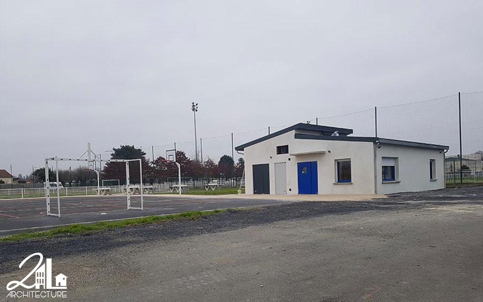 Construction et aménagement d'un complexe sportif à Tarbes par 2L Architecture