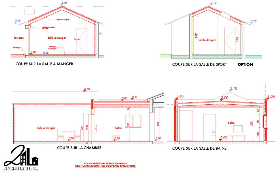 Extension en ossature bois et aménagement d'espaces de vie