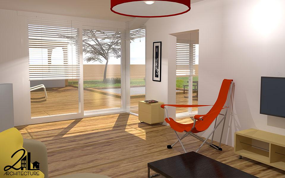 Extension des espaces de vie en ossature bois