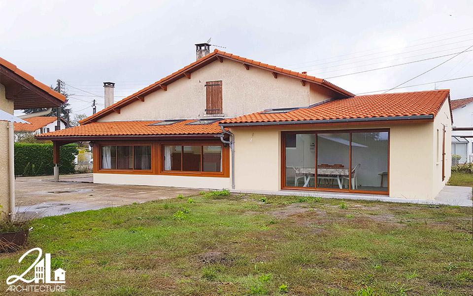 Extension d'une maison familiale : atelier & véranda