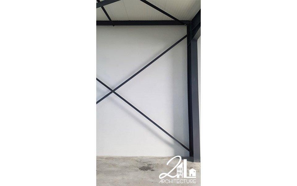 Construction de deux ateliers avec bureaux par 2L Architecture