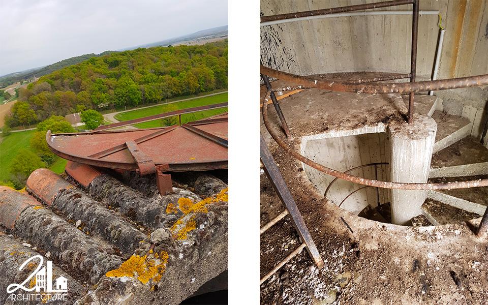 Transformation d'un château d'eau en habitation atypique